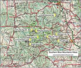 map of mountains in oregon day hikes in the southern blue mountains
