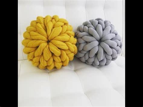 hand knit  chunky knit merino wool pillow