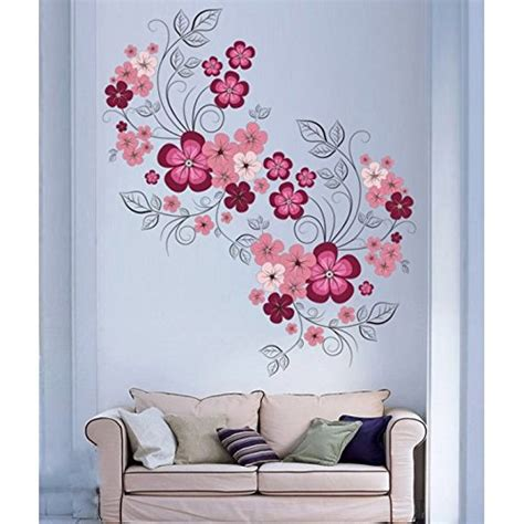 Wallsticker Jm 7151 buy 3d flower vase mirror wall sticker decal home room office decor removable lg on