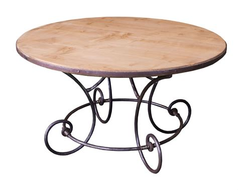 table fer forge plateau bois table basse ronde fer forge ezooq
