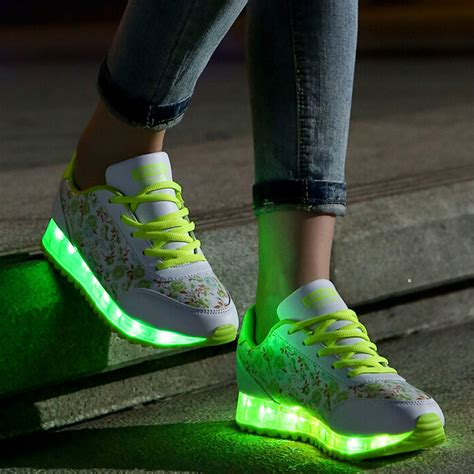 lighted shoes for new light up shoes for adults fashion led shoes floral