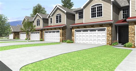 townhome designs customized home plans custom townhome design exle