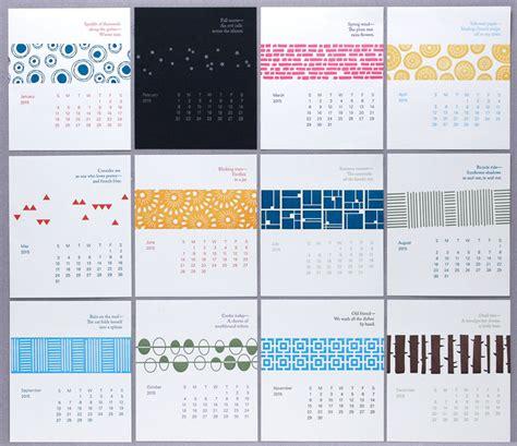 Calendar For Desktop 2015 Letterpress Calendar Green Chair Press