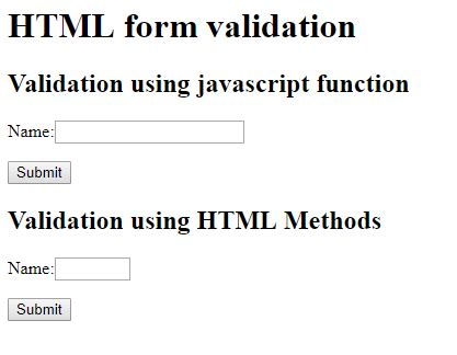 email format validation in javascript html form elements validation using javascript and dom