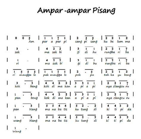 tutorial gitar best part notasi angka piano pianika ampar ampar pisang lagu daerah