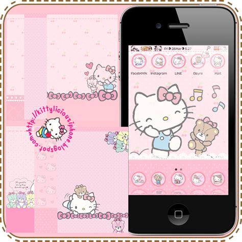 theme hello kitty cho iphone 5 hello kitty summerboard theme iphone images frompo 1