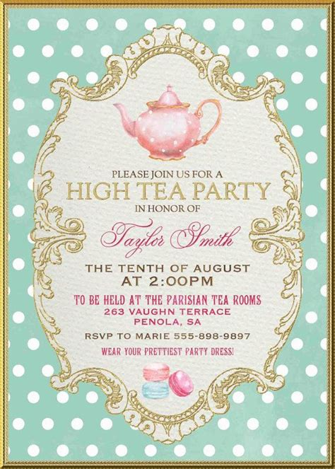tea invitation template 25 best ideas about high tea invitations on