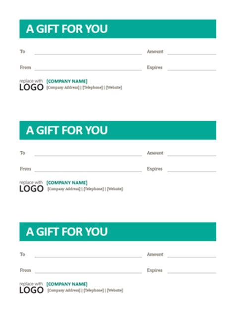 small business gift certificates office templates