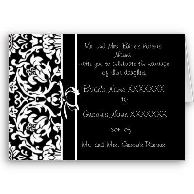wedding themes wedding style black and white wedding invitations a unique and choice