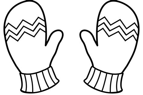 mitten coloring page free winter mittens coloring pages