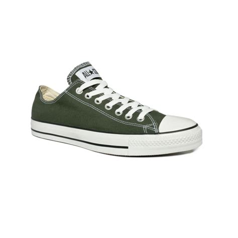green converse sneakers lyst converse chuck all sneakers in green
