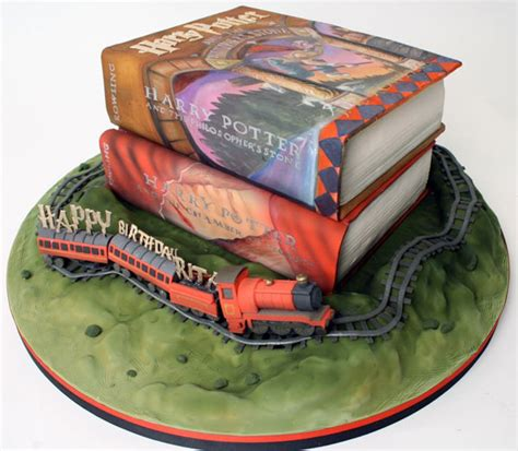 realistic harry potter book cake