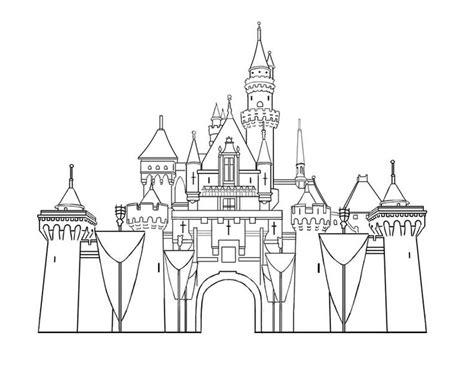 castle drawing template disney templates castle printables disneyland castles