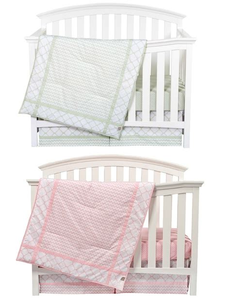 Matching Pink And Sea Foam Boy Girl Nursery Bedding Sets Matching Crib And Bedding