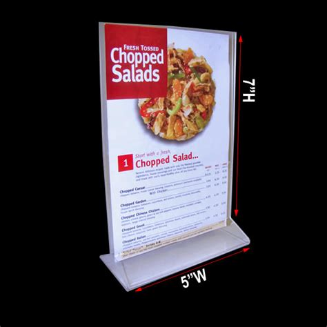 table ads for restaurants menu stand displays 5 quot x 7 quot restaurant menu cards