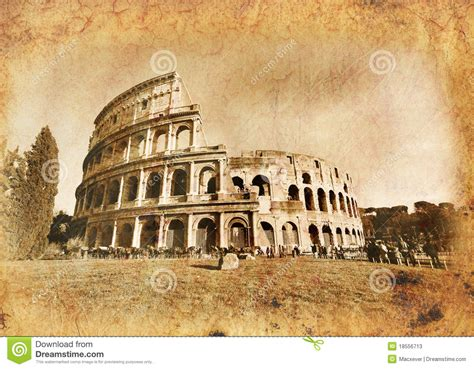 imagenes vintage roma colosseo in vintage old rome stock photos image 18556713