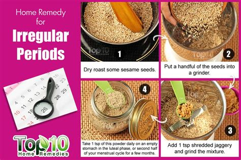 Remedies For Your Period Issues by Home Remedies For Irregular Periods Top 10 Home Remedies