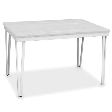 tavolo 80x120 tavolo natisa oasi 80x120 40 in metallo bianco tavoli a