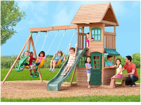 wooden swing sets under 300 399 reg 700 wooden play swing set free shipping
