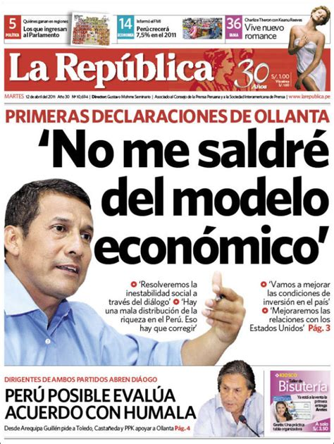 la republica edition books newspaper la republica peru newspapers in peru tuesday