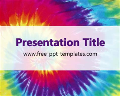Tie Dye Ppt Template Free Powerpoint Templates Tie Dye Powerpoint Template