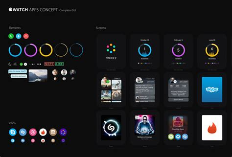 change app layout on iwatch 20 apple watch gui kits templates you can download
