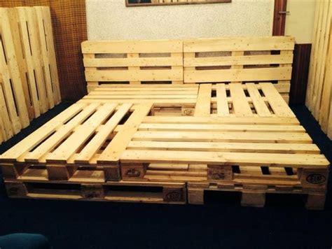 diy size pallet bed frame pallet bed frame 10 brilliant pallet furniture ideas