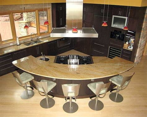 curved kitchen island kitchens i like pinterest