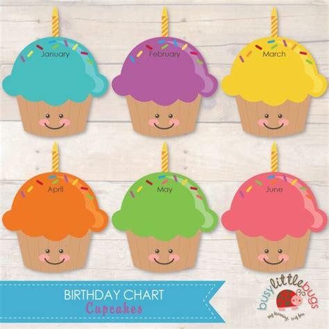 cupcake birthday chart template cupcake birthday chart template images