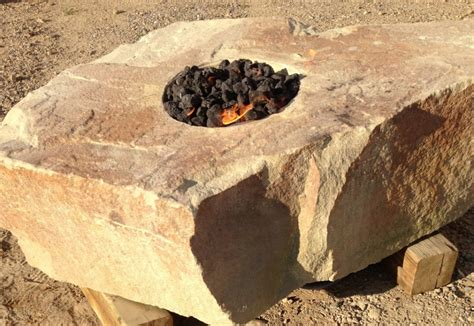 rock firepit pits pit outdoor fireplace