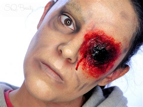 tutorial de zombie tutorial maquillaje halloween zombie sin ojo silvia quir 243 s
