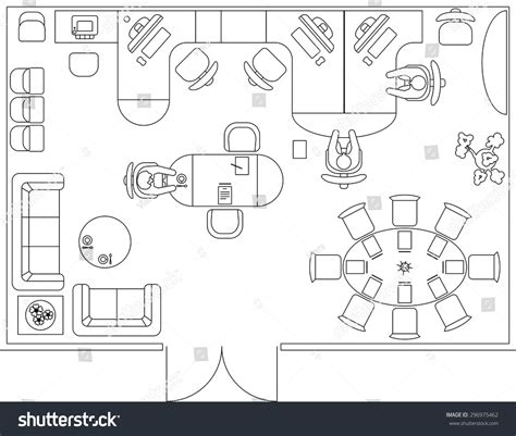 furniture icons for floor plans architectural set furniture interior design elements stock