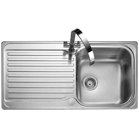 Inset Sinks Kitchen Stainless Steel Rangemaster Sedona 985 X 508mm Stainless Steel 1 0b Inset Kitchen Sink