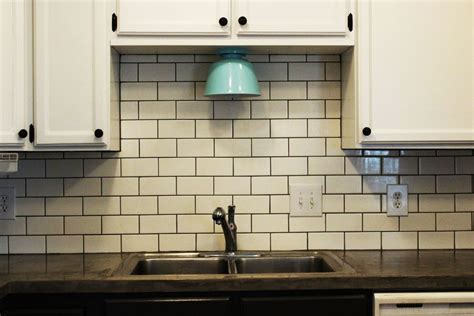 Kitchen Backsplash Subway Tile Patterns How To Install A Subway Tile Kitchen Backsplash