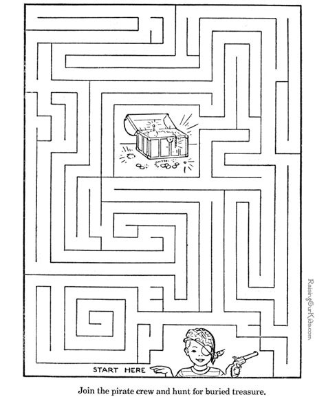 Printable Mazes Activity For Kids 006 Kid Worksheets Printable