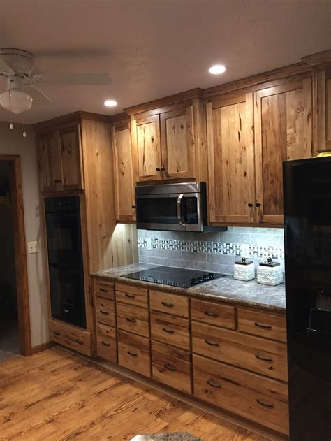 hickory cabinets rustic hickory kitchen cabinets wheatstate wood design