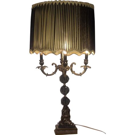 Table L Chandelier Style Black And Gold Regency Table L Chandelier Style Lights And Ls