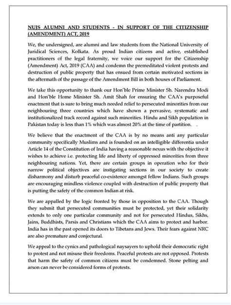 NLS student body votes against 'brute majoritarian' CAA