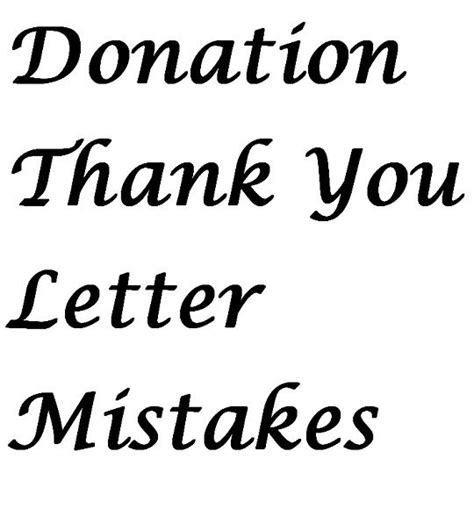 Thank You Letter Do S And Don Ts 65 best images about fundraising letters on