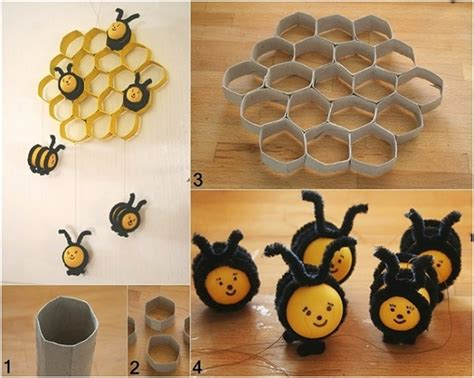How To Make A Paper Beehive - wonderful diy bee hive decoration from paper rolls