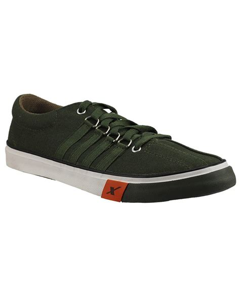 buy olive green mens canvas shoes for snapdeal