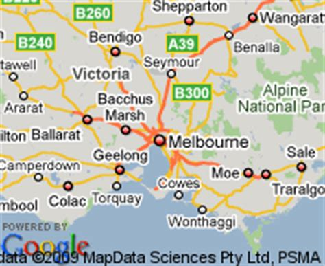 map  reservoir victoria hotels accommodation