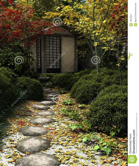 tea house garden japanese tea house and garden royalty free stock photography image 19674847
