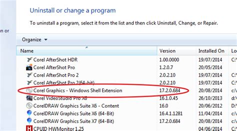 corel draw x6 windows shell extension core draw x6 files thumbnails preview does not show