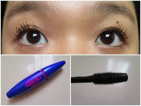 Mascara Maybelline Rocket Volum Express the blackmentos box review maybelline the