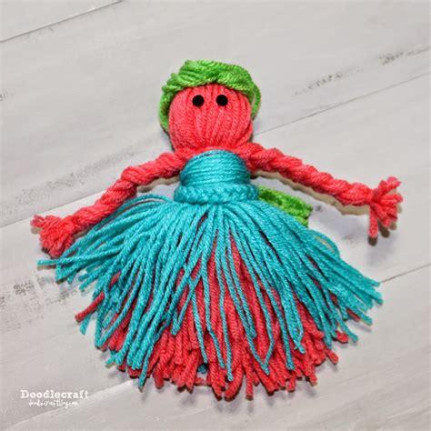 easy yarn crafts for doodlecraft yarn dolls