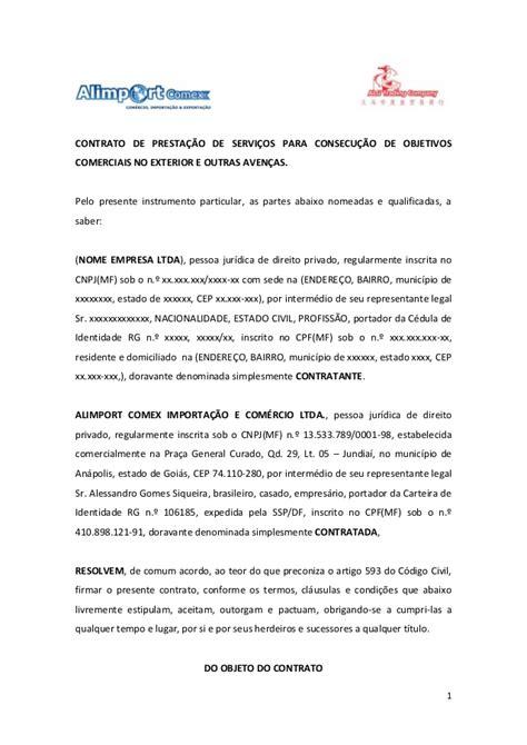 contratos modelo modelo de contrato internacional