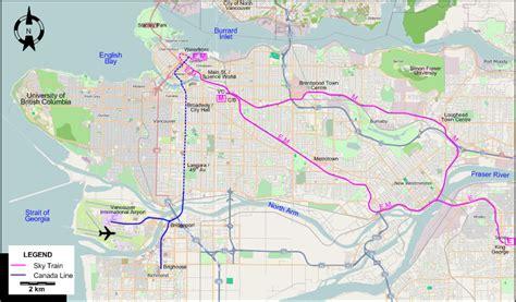 skytrain canada line map vancouver 2009