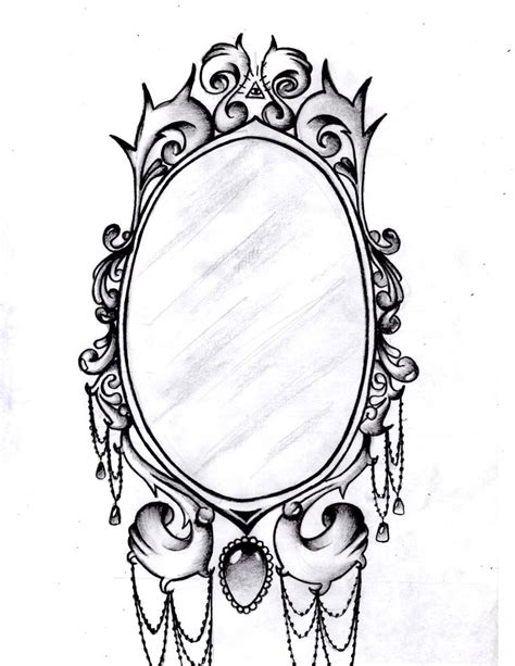 mirror tattoo design frame designs mirror frame by aimstar designs