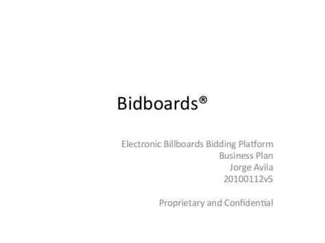 electronic bid electronic billboards bidding system bidboards